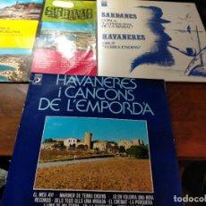 Discos de vinilo: PACK ANTIGUOS DISCOS VINILOS: LA CANÇÓ CATALANA, HAVANERES, SARDANES, COBLES, TERRA ENDINS. Lote 242297930