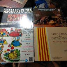 Discos de vinilo: PACK ANTIGUOS DISCOS VINILOS: NADALES DEL MÓN DE NADAL, VILLANCICOS DEL MUNDO NAVIDAD, CATALUÑA,. Lote 242300375