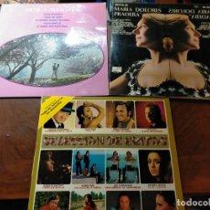 Discos de vinilo: PACK ANTIGUOS DISCOS VINILOS: SELECCION DE EXITOS, MARIA DOLORES PRADERA, MUSICA AMBIENTAL. Lote 242301975
