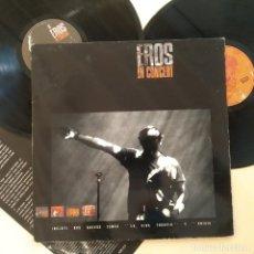 Discos de vinilo: EROS RAMAZZOTTI, IN CONCERT, DOBLE LP, GATEFOLD, ESPAÑA 1991, DDD– PL 75201 (VG+_VG+). Lote 242311245