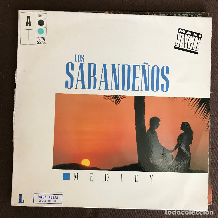 SABANDEÑOS - MEDLEY - 12'' MAXISINGLE ZAFIRO 1993 (Música - Discos de Vinilo - Maxi Singles - Country y Folk)