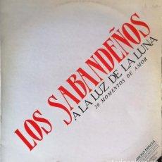 Discos de vinilo: LOS SABANDEÑOS - A LA LUZ DE LA LUNA - MAXI SINGLE PROMOCIONAL CON 6 CANCIONES #. Lote 242384115