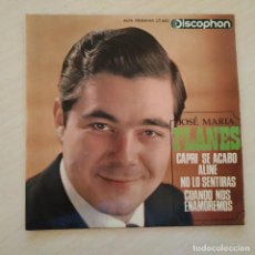 Discos de vinilo: JOSE MARIA PLANES - CAPRI SE ACABO / ALINE +2 - RARO EP SPAIN DISCOPHON DEL AÑO 1965 VG+ / EX. Lote 242403365
