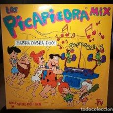 Dischi in vinile: DISCO VINILO LOS PICAPIEDRA MIX LP X 2 BLANCO Y NEGRO 1994 ESPAÑA. Lote 242429355