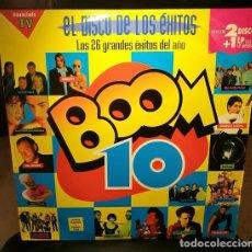 Disques de vinyle: DISCO VINILO BOOM 10 EL DISCO DE LOS EXITOS LP X 3 EMI 1994 ESPAÑA. Lote 242432080