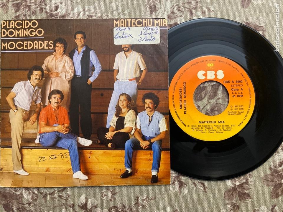 """MOCEDADES Y PLÁCIDO DOMINGO VINILO7"""" (Música - Discos - Singles Vinilo - Grupos Españoles de los 70 y 80)"""