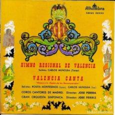 Discos de vinilo: ROSITA MONTESINOS CARLOS MUNGUIA HIMNO DE VALENCIA. Lote 242437780