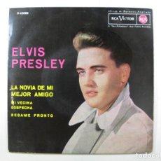 Dischi in vinile: EP ELVIS PRESLEY · LA NOVIA DE MI MEJOR AMIGO (RCA, 1963) (CARPETA CASI IMPECABLE). Lote 242452770