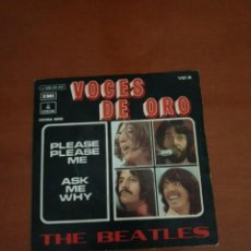 Discos de vinilo: DISCO VINILO THE BEATLES ,VOCES DE ORO, PLEASE PLEASE ME, ASK MY WHY , ODEON 1963.. Lote 242458780