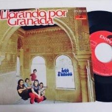 Dischi in vinile: LOS PUNTOS-SINGLE LLORANDO POR GRANADA-NUEVO. Lote 242466475