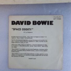 Discos de vinilo: VINILO SINGLE DAVID BOWIE SPACE ODDITY. DISCO PROMOCIONAL 1975.. Lote 242486390