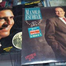 Discos de vinilo: DISCOS VINILOS MUSICA LP MANOLO ESCOBAR ENTRE DOS AMORES Y 30 ANIVERSARIO. Lote 242841860