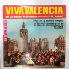 Disques de vinyle: TUNA DE LA ESCUELA TECNICA PERITOS INDUSTRIALES VALENCIA: VIVA VALENCIA / EN LA NOCHE PERFUMADA / EL. Lote 242854145