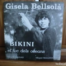 Discos de vinilo: GISELA BELLSOLA – BIKINI EL FOC DELS OCEANS - CANTATA EN CATALÀ. CATALUNYA NORD. Lote 242866530