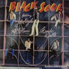 Discos de vinilo: BLACK SOUL FEATURING JOHN OZILA, AL BLAMO, MONDO WELLS – BLACK SOUL - LP DE VINILO REGGAE. Lote 242874670