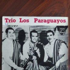 """Discos de vinilo: TRIO LOS PARAGUAYOS, 1958 - MARÍA DOLORES, SERENATA, MALAGUEÑA - VINYL, 7"""" PULGADAS - DISCO VINILO. Lote 242879525"""