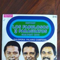 """Discos de vinilo: LOS FABULOSOS 3 PARAGUAYOS - HISTORY. GREATEST HITS - 1976 - VINYL, 7"""" PULGADAS - DISCO VINILO. Lote 242880320"""