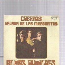 Discos de vinilo: ALMAS HUMILDES BALADA MARGARITAS. Lote 242882640