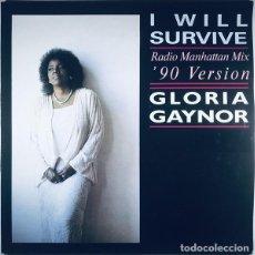 """Discos de vinilo: COLECCIONISTAS MAXI 12"""" 3 TRACK-GLORIA GAYNOR """"I WILL SURVIVE""""- ORIG. ANALÓGICO ITALY 1990. Lote 242884910"""