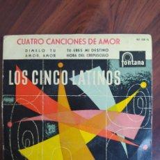 """Discos de vinilo: LOS CINCO LATINOS - CUATRO CANCIONES DE AMOR - 1959 - VINYL, 7"""" PULGADAS - DISCO VINILO. Lote 242885500"""