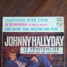 """Disques de vinyle: JOHNNY HALLYDAY - LE PENITENCIER (LA CASA DEL SOL NACIENTE) 1964 - VINYL, 7"""" PULGADAS - DISCO VINILO. Lote 242894200"""