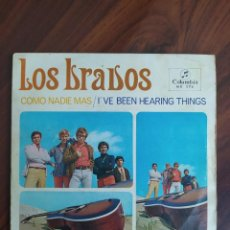 """Disques de vinyle: LOS BRAVOS – COMO NADIE MÁS/I'VE BEEN HEARING THINGS - 1967 - VINYL, 7"""" PULGADAS - DISCO VINILO. Lote 242896895"""