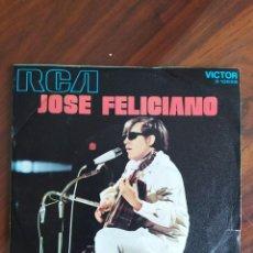 """Discos de vinilo: JOSÉ FELICIANO - QUE SERÁ, THERE'S NO ONE ABOUT, RCA, 1971 - VINYL, 7"""" PULGADAS - DISCO VINILO. Lote 242897110"""