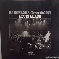 Discos de vinilo: LP / LLUIS LLACH - BARCELONA GENER DE 1976, CONTIENE ENCARTE CON LAS LETRAS. Lote 242897900