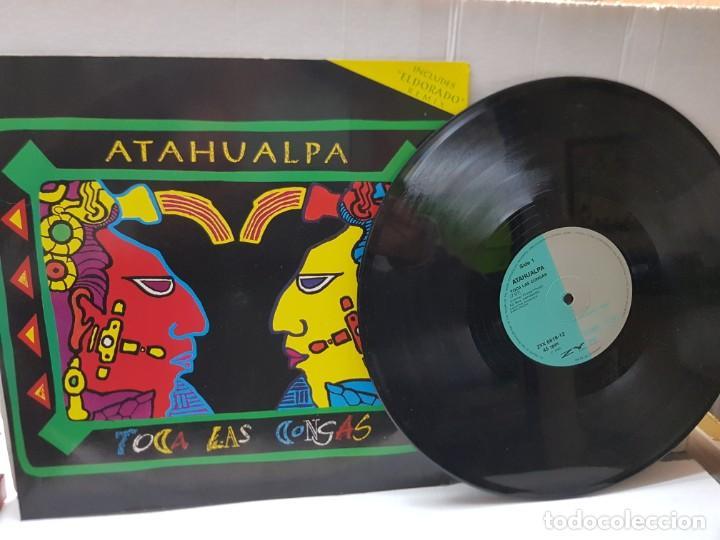MAXI SINGLE DE ATAHUALPA-TOCA LAS CONGAS- EN FUNDA ORIGINAL 1992 (Música - Discos de Vinilo - Maxi Singles - Grupos Españoles de los 70 y 80)