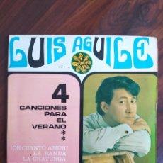 """Disques de vinyle: LUIS AGUILE - 4 CANCIONES PARA EL VERANO, SONOPLAY - 1967 - VINYL, 7"""" PULGADAS - DISCO VINILO. Lote 242899350"""