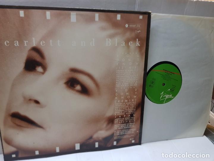 Discos de vinilo: MAXI SINGLE-SCARLETT AND BLACK-YOU DONT KNOW- en funda original 1988 - Foto 2 - 242902305
