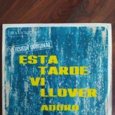 "Discos de vinilo: ARMANDO MANZANERO - ESTA TARDE VI LLOVER - 1967 - VINYL, 7"" PULGADAS - DISCO VINILO. Lote 242904155"