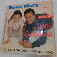 Discos de vinilo: ROSA MARY Y JOSÉ GUARDIOLA - LA BALADA DEL VAGABUNDO + 3. Lote 242908580