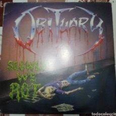 Discos de vinilo: OBITUARY: SLOWLY WE ROT: LP: EDICIÓN DE 1997. Lote 242918915