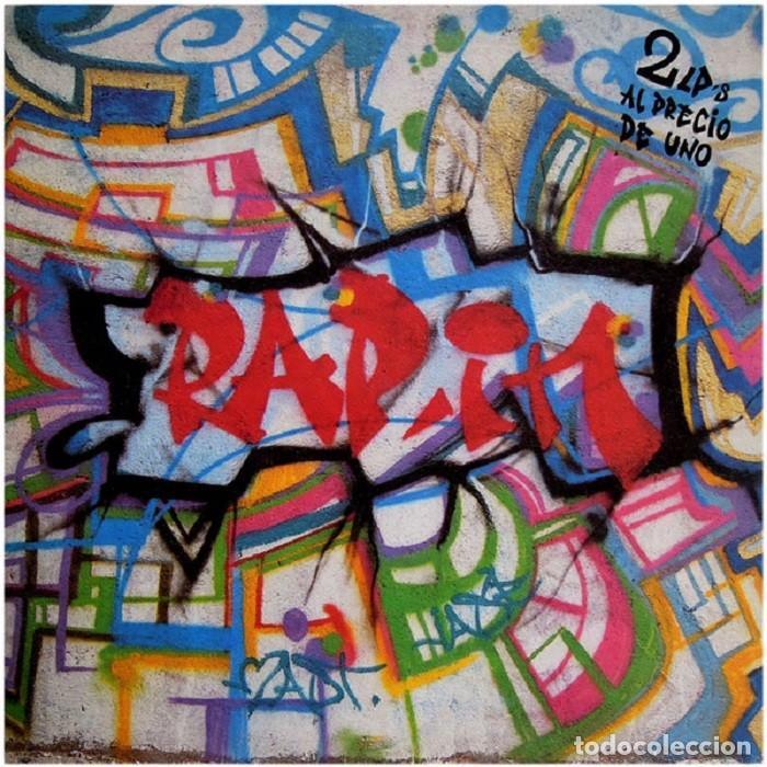 """DOBLE LP """"RAP 'IN"""" - VARIOUS - ORIG. ANALÓGICO SPAIN 1989 - HIP-HOP (Música - Discos - LP Vinilo - Rap / Hip Hop)"""
