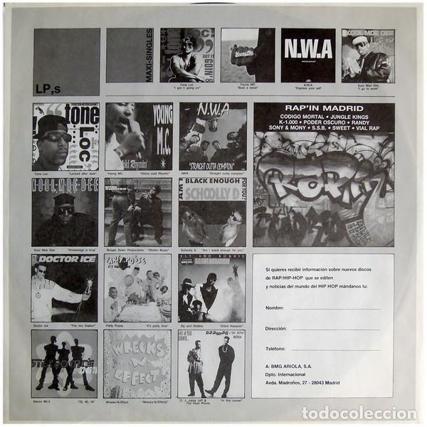 """Discos de vinilo: DOBLE LP """"RAP IN"""" - VARIOUS - Orig. analógico Spain 1989 - HIP-HOP - Foto 2 - 242924480"""
