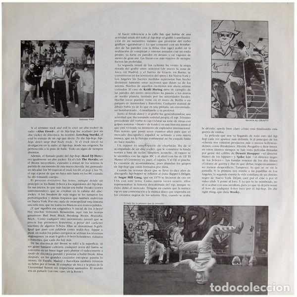 """Discos de vinilo: DOBLE LP """"RAP IN"""" - VARIOUS - Orig. analógico Spain 1989 - HIP-HOP - Foto 4 - 242924480"""