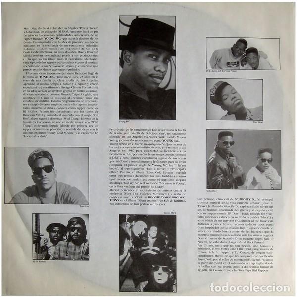 """Discos de vinilo: DOBLE LP """"RAP IN"""" - VARIOUS - Orig. analógico Spain 1989 - HIP-HOP - Foto 5 - 242924480"""