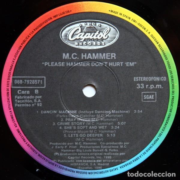 "Discos de vinilo: LP MC HAMMER ""PLEASE HAMMER DONT HURT EM"" -Orig. analógico Spain 1990 - Foto 3 - 242925185"