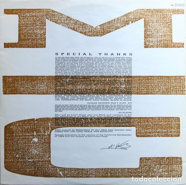 "Discos de vinilo: LP MC HAMMER ""PLEASE HAMMER DONT HURT EM"" -Orig. analógico Spain 1990 - Foto 5 - 242925185"