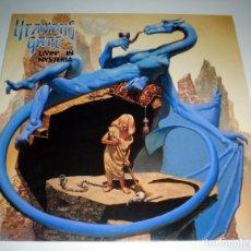 Discos de vinilo: LP HEAVENS GATE - LIVIN´IN HYSTERIA. Lote 242936960