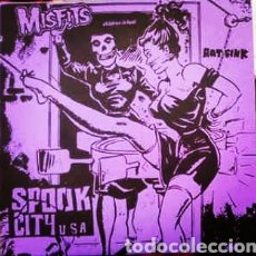 Discos de vinil: MISFITS - SPOOK CITY U.S.A . SINGLE VINILO COLOR ROJO - NUEVO. Lote 242946070