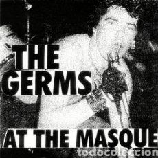 Discos de vinilo: THE GERMS ‎– AT THE MASQUE . SINGLE VINILO COLOR AZUL EDICIÓN NUMERADA 182/200. NUEVO.. Lote 242946825