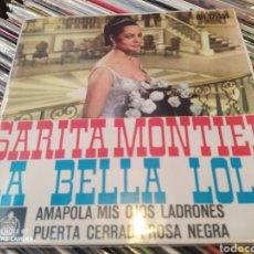 Discos de vinilo: SARITA MONTIEL. LA BELLA LOLA. AMAPOLA. EP VINILO.. Lote 242955430