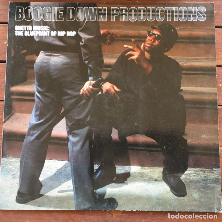 BOOGIE DOWN PRODUCTIONS - GHETTO MUSIC: THE BLUEPRINT OF HIP HOP .LP . 1989 GERMANY (Música - Discos - LP Vinilo - Rap / Hip Hop)