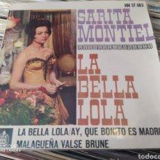 Discos de vinilo: SARITA MONTIEL. LA BELLA LOLA. EP VINILO.. Lote 242956190