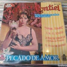 Discos de vinilo: SARITA MONTIEL. SARA MONTIEL. PECADO DE AMOR. TAPAME - EP VINILO. Lote 242957395