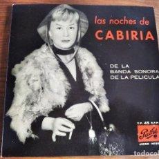 Discos de vinilo: FRANCO FERRARA - LAS NOCHES DE CABIRIA BSO **** RARO EP ESPAÑOL 1958 GRAN ESTADO!. Lote 242968400