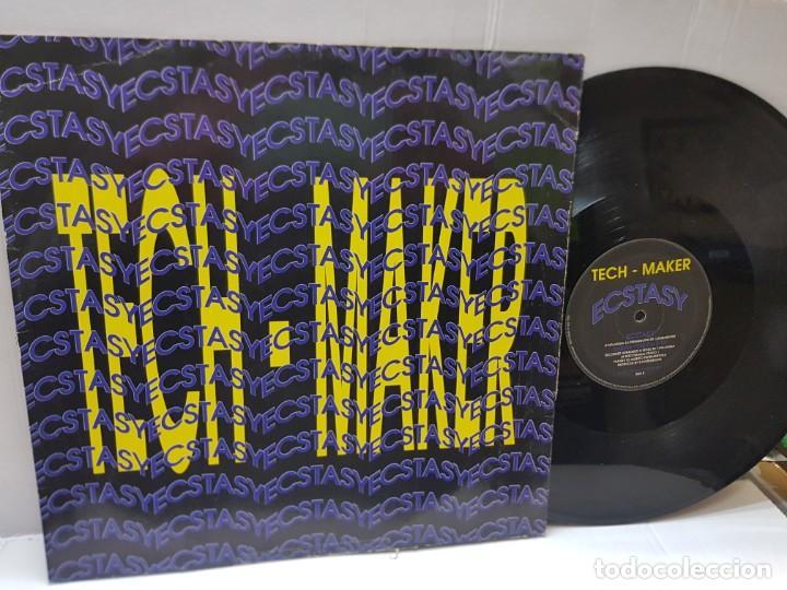 MAXI SINGLE-TECH MAKER-ECSTASY- EN FUNDA ORIGINAL 1993 (Música - Discos de Vinilo - EPs - Techno, Trance y House)