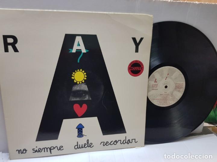 MAXI SINGLE-RAY-NO SIEMPRE DUELE RECORDAR- EN FUNDA ORIGINAL 1993 (Música - Discos de Vinilo - EPs - Techno, Trance y House)